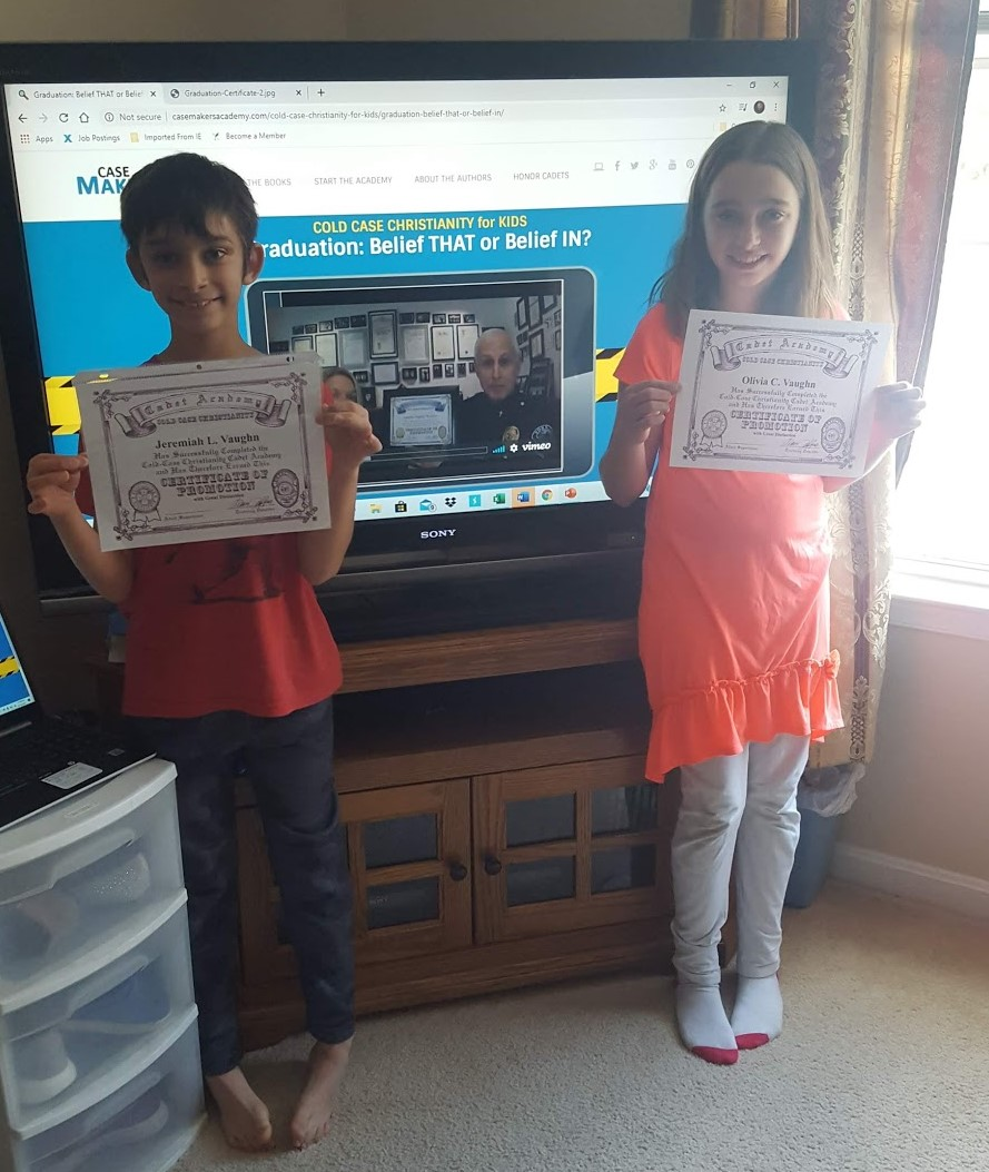 Congratulations to Olivia and Jeremiah Vaughn! They are now official graduates of the Case Makers Academy!