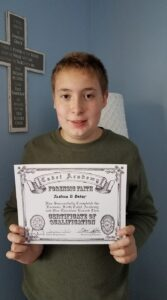 Joshua has successfully completed ALL THREE Academy courses