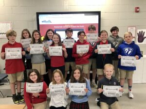 These 5th Graders from TCPS Elementary School 6th ALSO became Forensic Faith for Kids Honor Cadets!