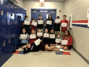 TCPS Elementary School 6th Grade Honors Cadets from the Forensic Faith for Kids Academy!